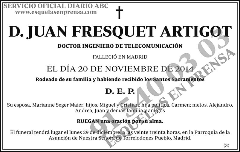 Juan Fresquet Artigot
